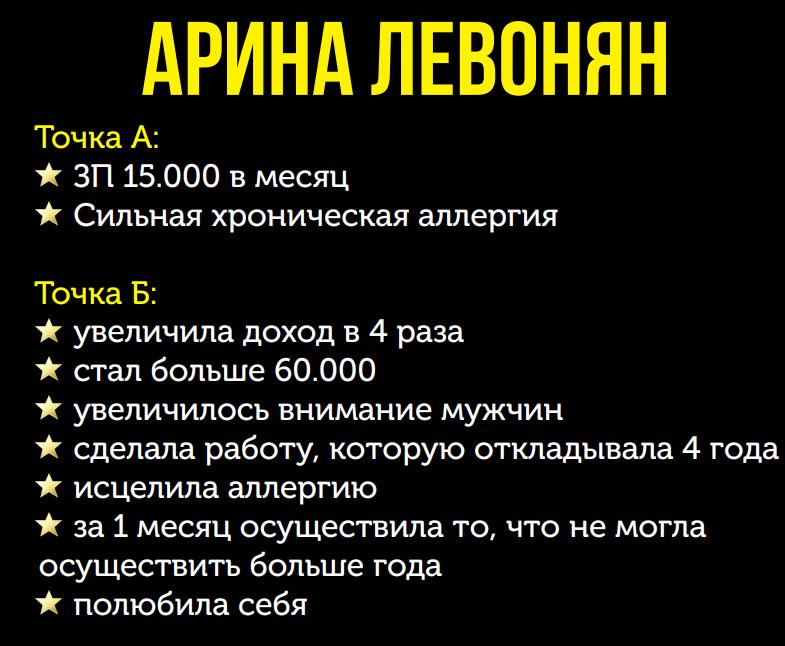 Победитель 3 потока курса «Финансовый форсаж» Арина Левонян