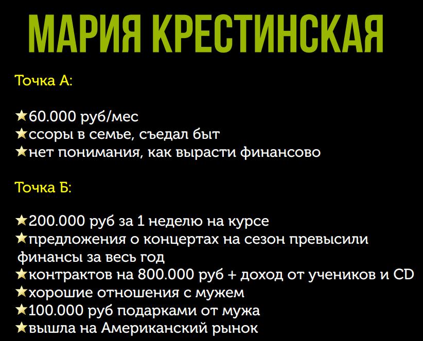 Победитель 2 потока курса «Финансовый форсаж» Мария Крестинская