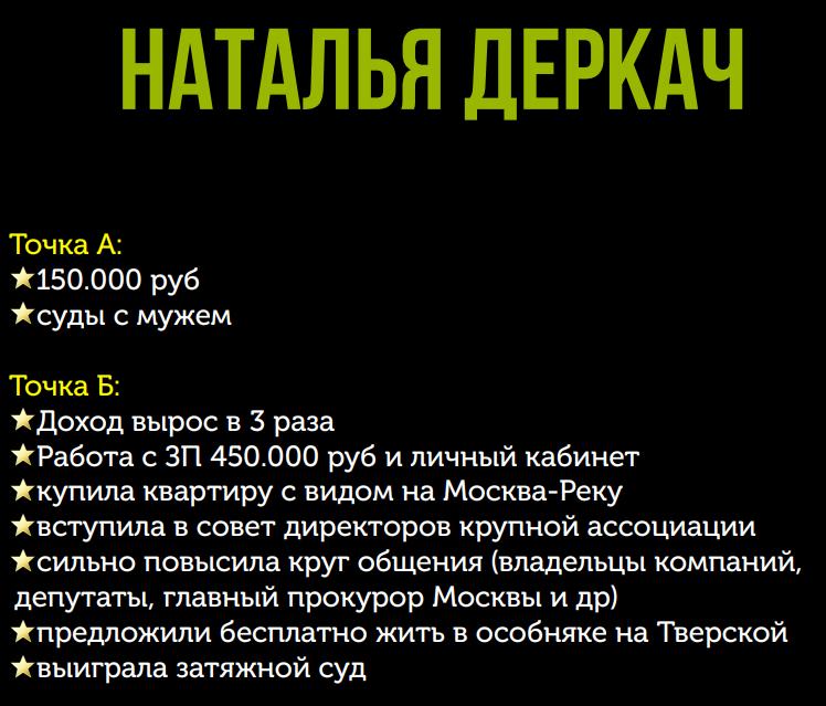 Победитель 3 потока курса «Финансовый форсаж» Наталья Деркач