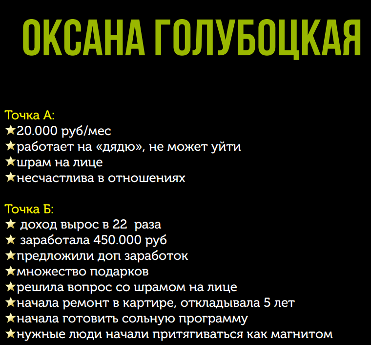 Победитель 3 потока курса «Финансовый форсаж» Оксана Голубоцкая